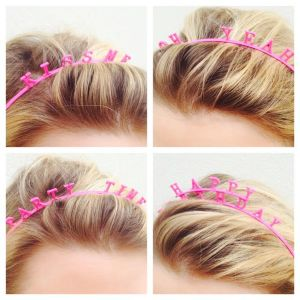 pinkpartyheadbands